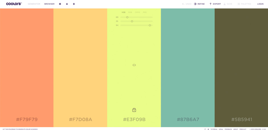 Trendy Web Color Palettes and Material Design Color ...