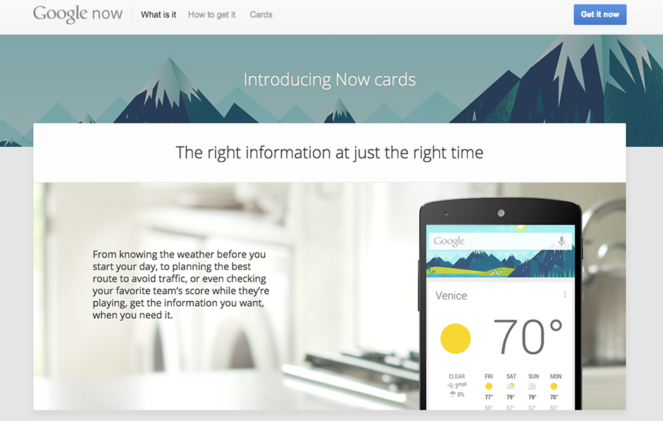 Material Design - Web Design Trends - Google Now