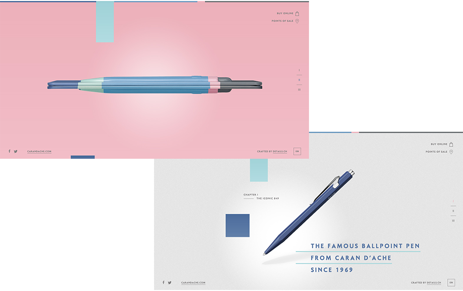 Paul Smith + Caran d'Ache - Quartz Serenity Pantone