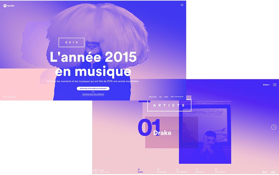 Year in Music - Quartz Serenity Pantone