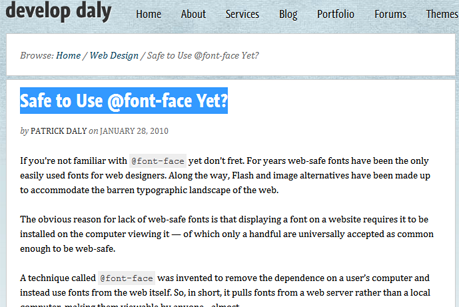 Safe to Use @font-face Yet?