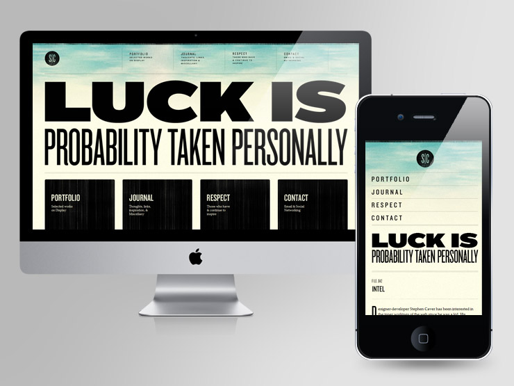 Stephen Caver - Luck is probability taken personally