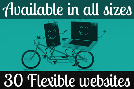 Available in all sizes: 30 Flexible websites