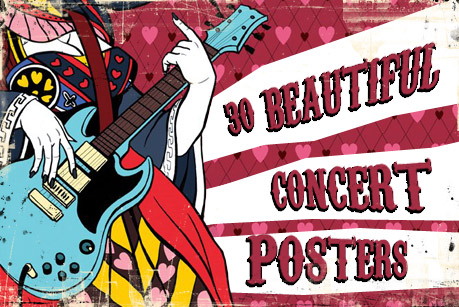 30 Beautiful Concert Posters