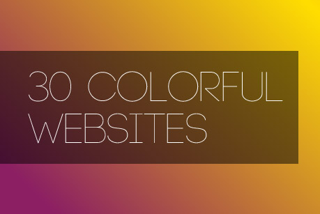 30 Colorful Websites