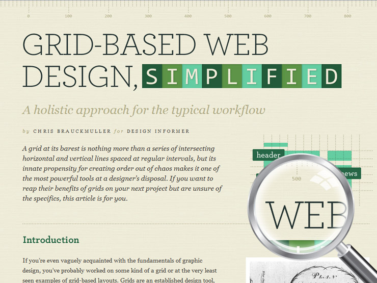 Grid-Based Web Design, Simplified | Design Informer