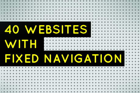 40 Websites with Fixed Navigation
