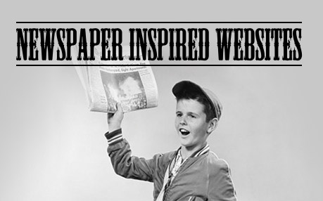 Newspaper inspired websites