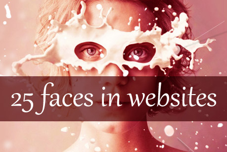 25 Faces in Websites