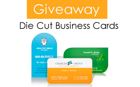 Die Cut Business Cards Giveaway By UPrinting