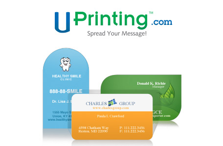 Die cut business cards giveaway by uprinting colourmoves