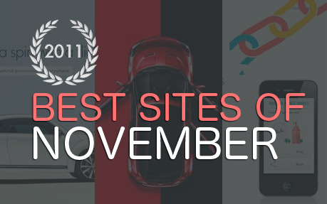 And the nominees for The Site of The Month Awwward are ...