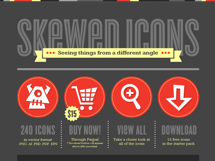 Skewed Icons by Denise Chandler