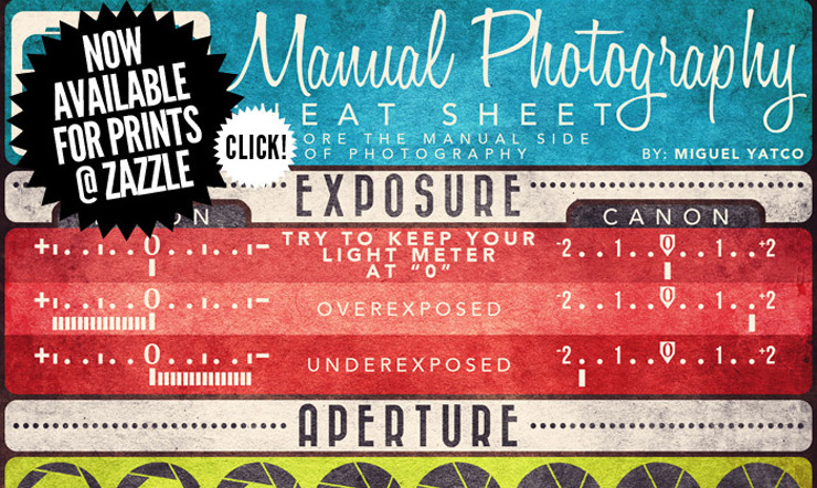 Manual Photography Cheatsheet