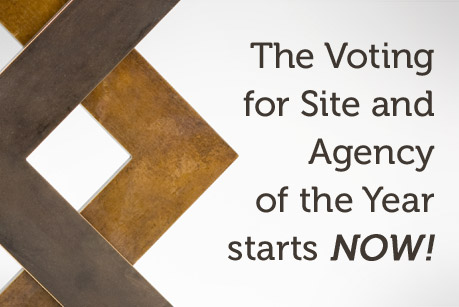 The Voting for the Site and the Agency of the Year 2011 starts NOW!