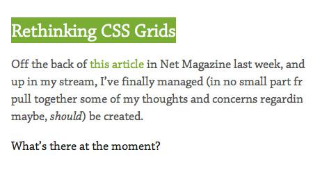 Rethinking CSS Grids