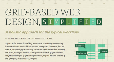 Grid Based Web Design Simplified