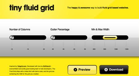 Tiny fluid grid