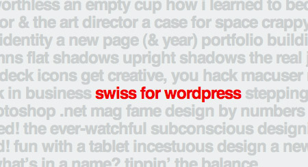Wordpress Theme Swiss