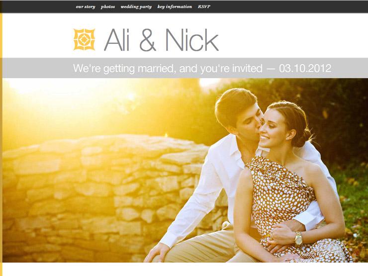 weddings wedding website