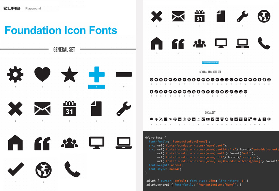 Foundation Icons Fonts
