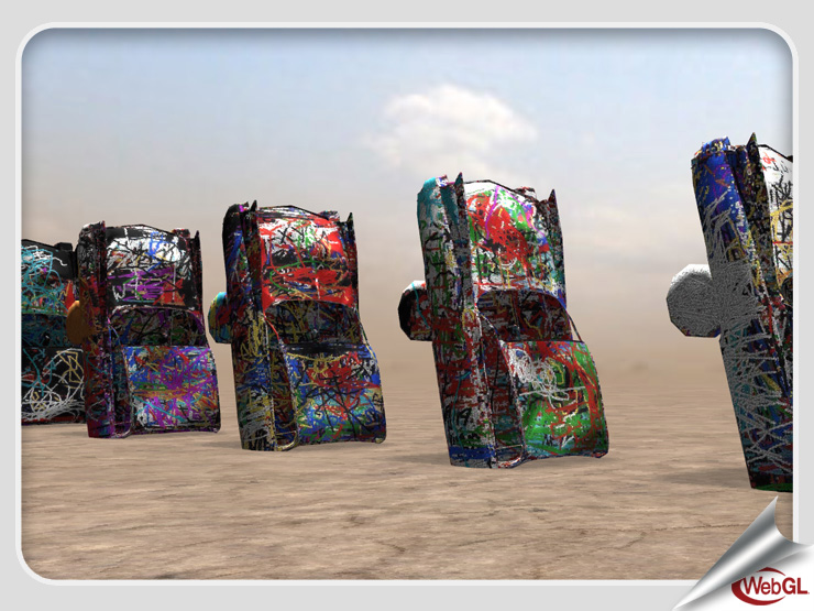 WebGL Cadillac Ranch