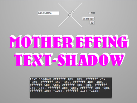 Mother Effing Text Shadow