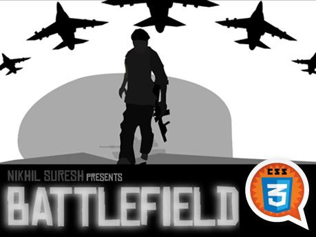 Battlefield CSS3, by Nikhil Suresh