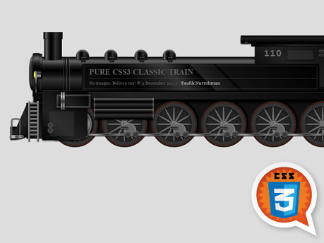 Pure CSS3 Classic Train, by Taufik