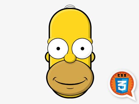 Pure CSS3 Homer, by Bernard Deluna