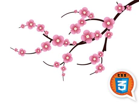 CSS3 Cherry Blossom - Media queries