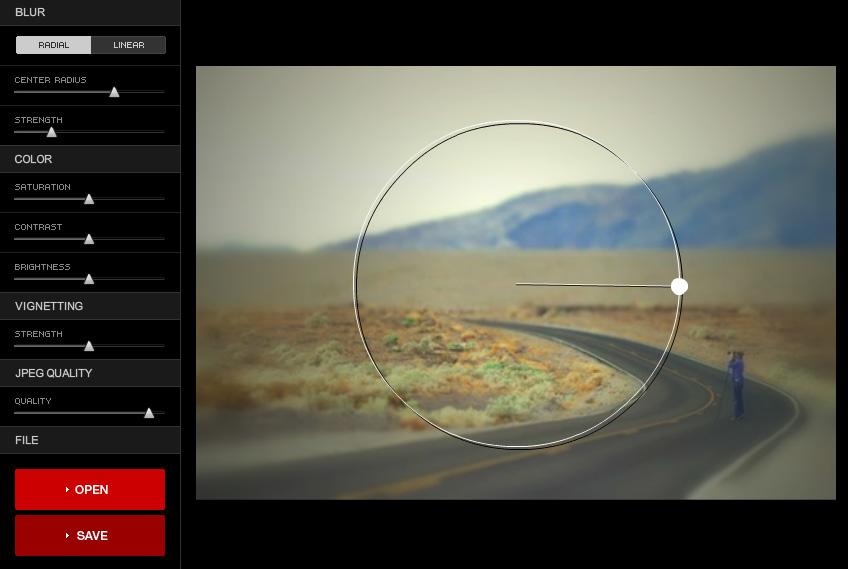 Tilt-Shift Online App