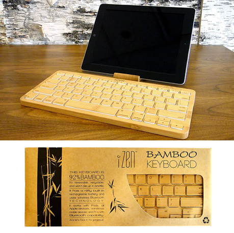 Izen Bamboo Keyboard For Ipad And Desktop Keyboards