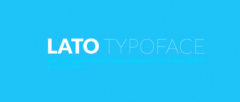 Lato best fonts for web design