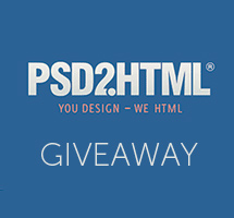 Win $300 Worth of PSD to HTML Conversion from PSD2HTML®