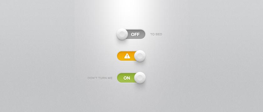 Buttons Lights Shadows UI