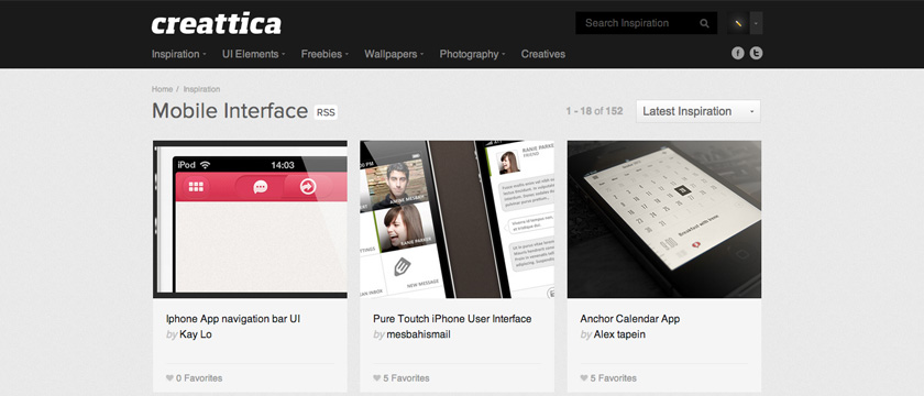 Creattica Mobile Inspiration