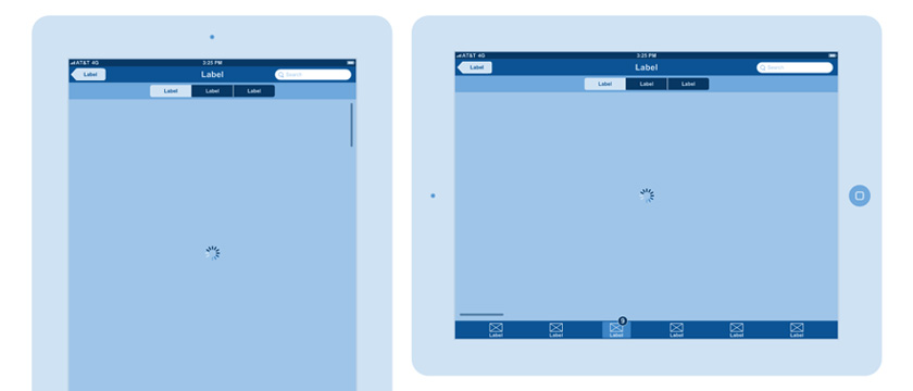iPad wireframe templates for Google Docs