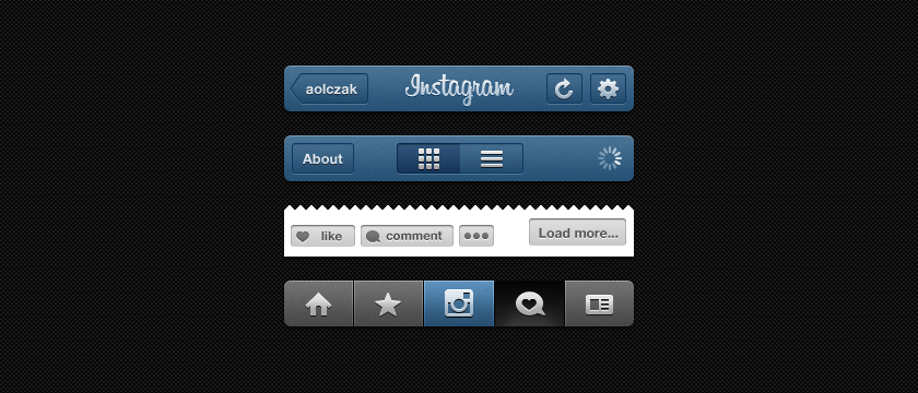 Instagram GUI Kit