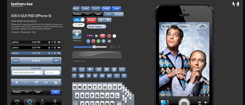 iOS 6 GUI PSD