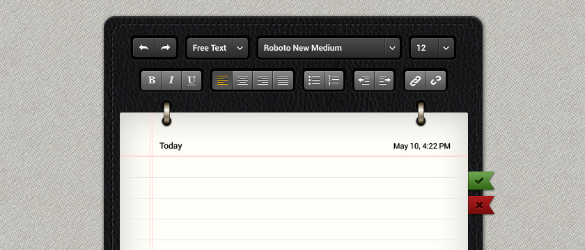Ipad Notepad App UI