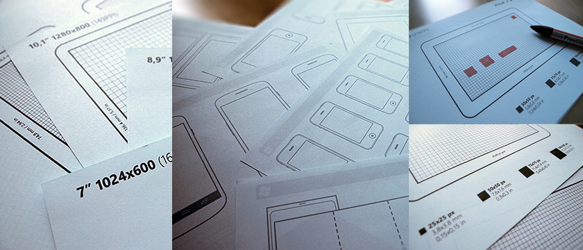 UX Sketching And Wireframing Templates For Mobile Projects