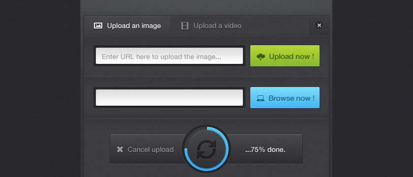Upload Panel