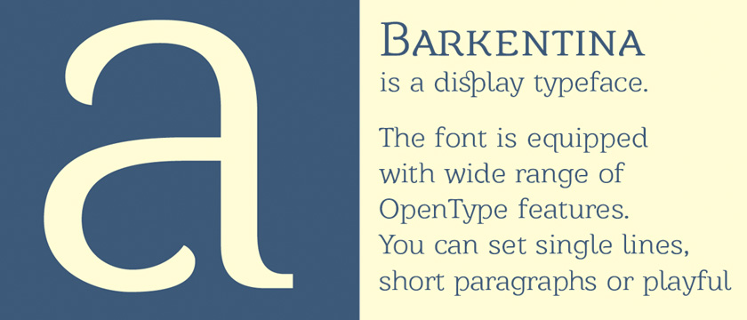 barkentina Display Free Font