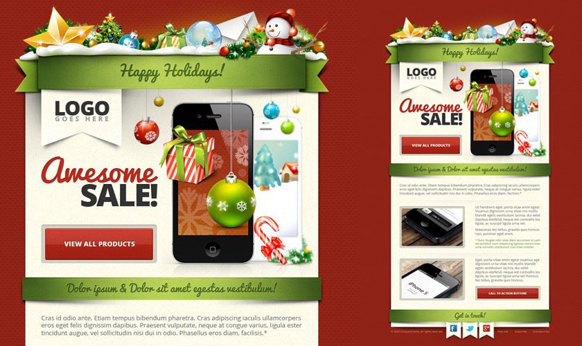 Christmasthemed Graphic Resources and Christmas Card Freebies – Christmas Card Layout