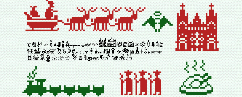 Christmas Suboel bitmap font