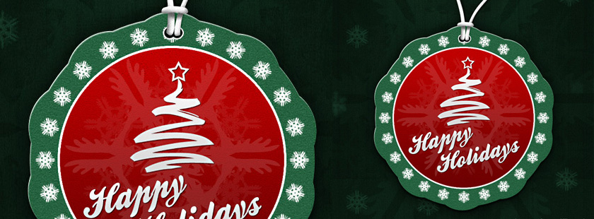Xmas Label PSD Template