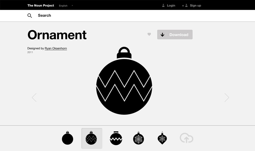 The Noun Project Xmas Ornaments Icons