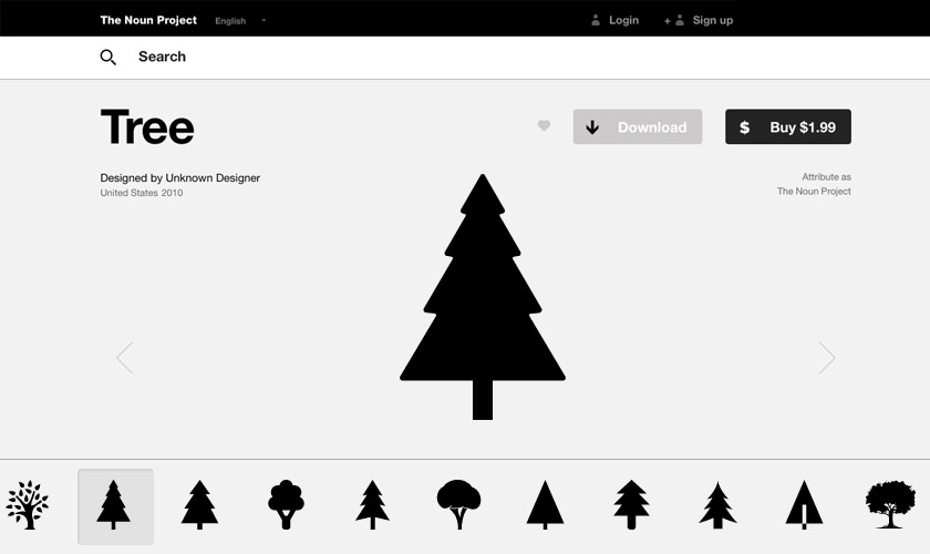 The Noun Project Xmas Trees
