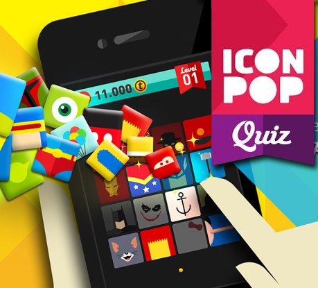 Test yourself with Icon Pop Quiz Game App!